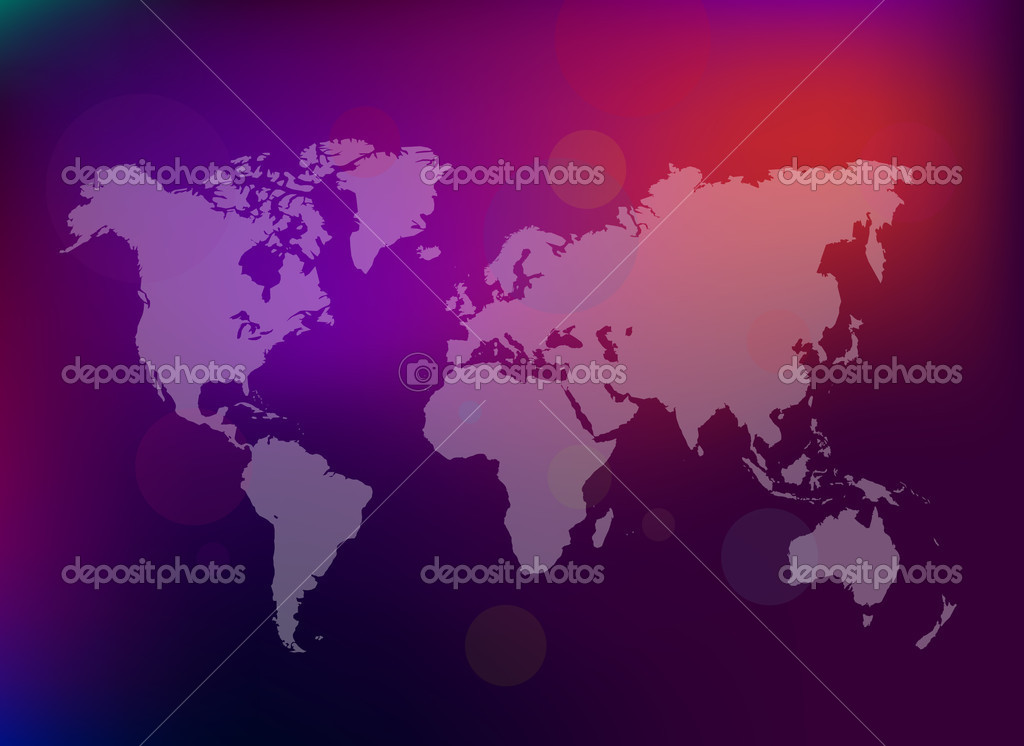 World map on colorful abstract  background   Stock Vector #2165189