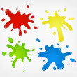 Paint splashes — Stock Vector