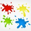 Paint splashes — Stockvektor