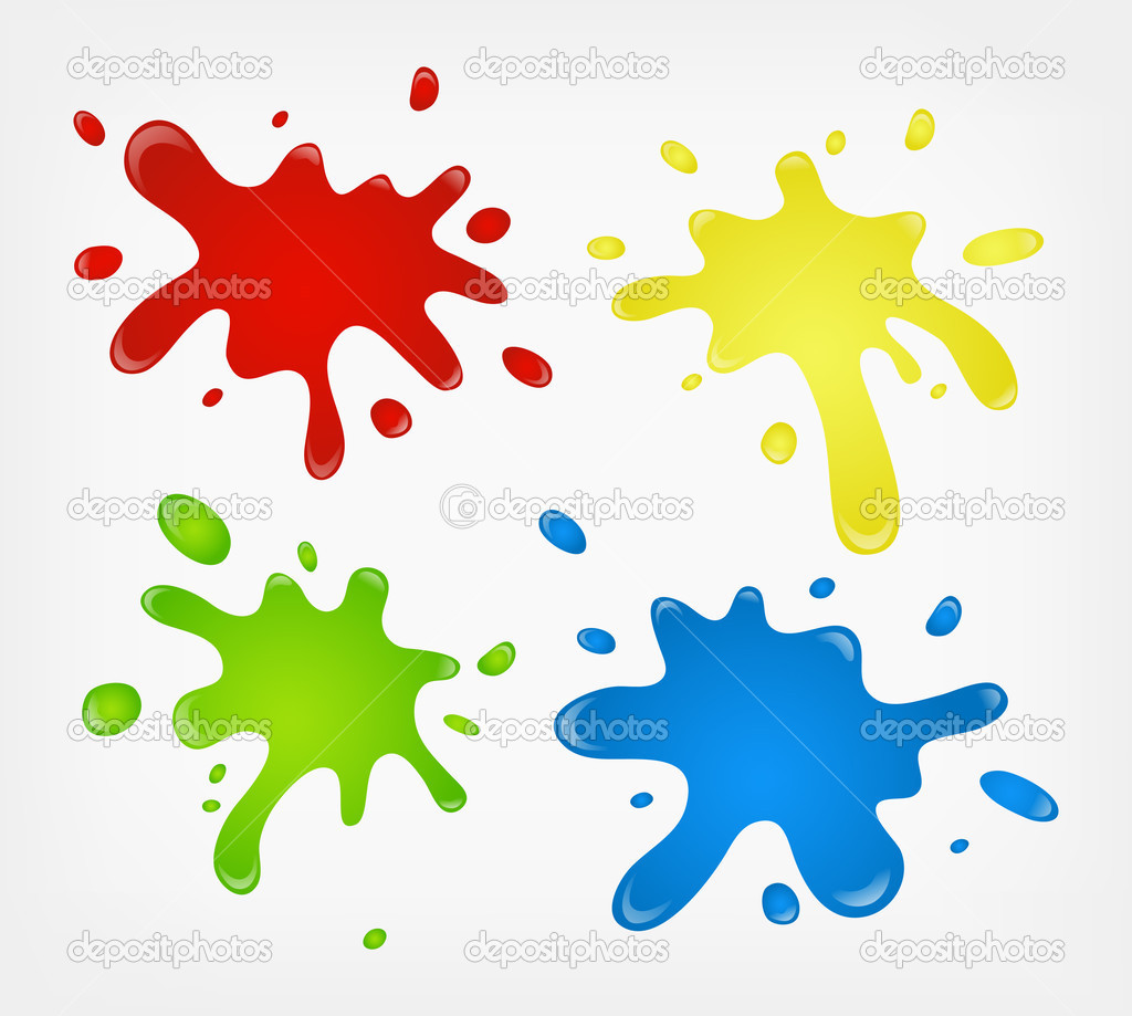 Vector color paint splashes   Stock Vector #2392228