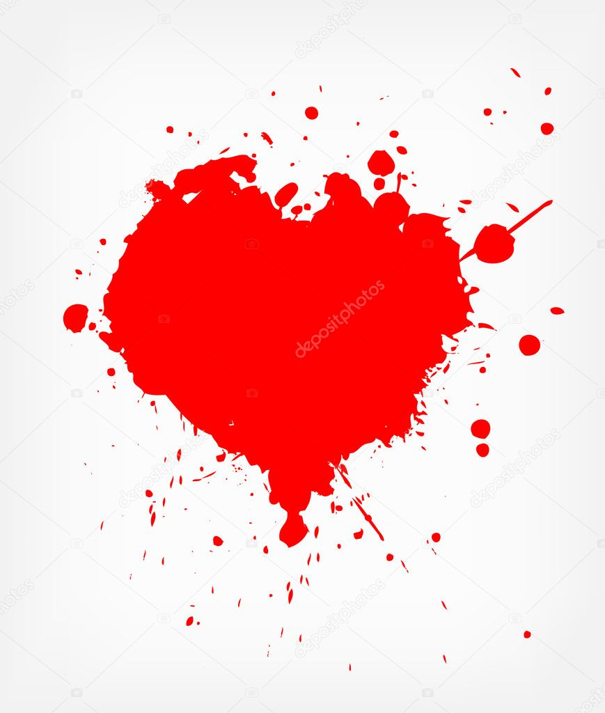 Grunge abstract heart with blood — Stock Vector #2441889