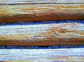 Wooden house wall — Stock Photo