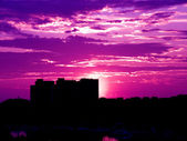 Purple sunset — Stock Photo