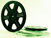 Film reels with films — Stock Photo