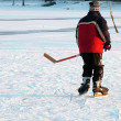Stock Photo: Hockey on lake