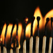 Royalty-Free Stock Photo: Fire flames - Matches
