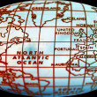 Foto Stock: Simple world map