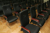 Chairs - Black seats — Stock Photo