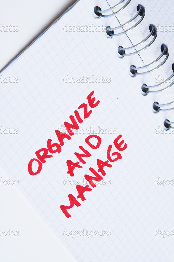 Organize and manage - note in notebook. Personal message in notebook — Stock Photo #1842262