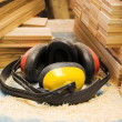 Workers  headphones - Stock Photo