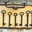 Old rusty key — Stock Photo