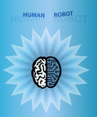 Human robot brain — Stock Photo