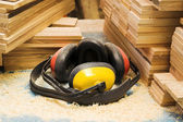Workers headphones — Stock Photo