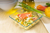 Parma ham and potato salad — Stock Photo