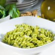 Italian fusilli pasta and pesto - Stock Photo
