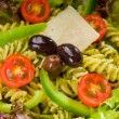 Stock Photo: Italian fusilli pasta salad