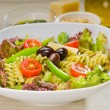 Stock Photo: Italifusilli pastsalad