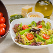 Italian fusilli pasta salad — Stock Photo #2231606