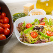 Italian fusilli pasta salad — Stock Photo