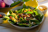 Spinach salad — Stock Photo