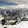 Foto Stock: High mountains panorama