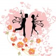 Couple in love — Imagen vectorial