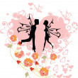 Stock Vector: Couple in love