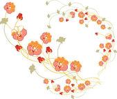 花柄 — ストックベクタ