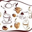 Set of coffee elements - Stock Vector