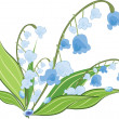 Lilies of the valley — Stock Vector
