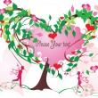 Love tree — Stock Vector #2157656