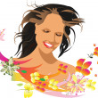 Beautiful female face — Imagen vectorial