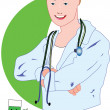 A Doctor — Stock Vector #2157730