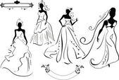 Set of Brides — Stock Vector