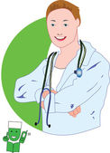 A Doctor — Stock Vector