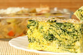 Spinach and corn pie — Stock Photo