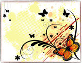Grunge butterfly background — Stock Photo