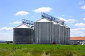 Silos in the field — Stock Photo