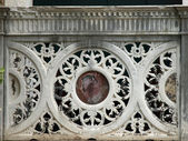 Detail from venetian building - Venice — Stock Photo