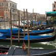 Stock Photo: Venice - Parking gondolas