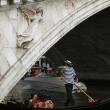 Venice - Rialto brigde and gondola — Stock Photo #1935313