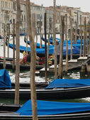 Venice - Parking gondolas — Stock Photo