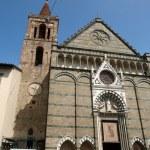 Facade church of St Paul - Pistoia Tusc — Stock Photo #1946731