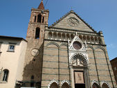 Facade church of St Paul - Pistoia Tusc — Stock Photo