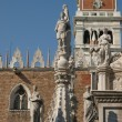 Courtyard of the Doges Palace in Venice - Stock Photo