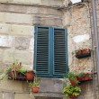 Old and ancient italian window — Stock Photo