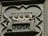 Florence Baptistery - South Portal — Stock Photo