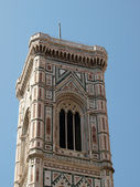 View of the Giotto's bell tower - Florence — Stock Photo