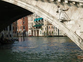 Canal Grande and Rialto bridge - Venice — Stock Photo