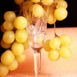 Glass, grapes - Stock Photo